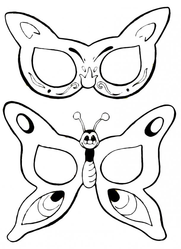 Máscaras de Carnaval - borboleta